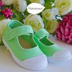 Sapatilha Olivia lacinhos verde