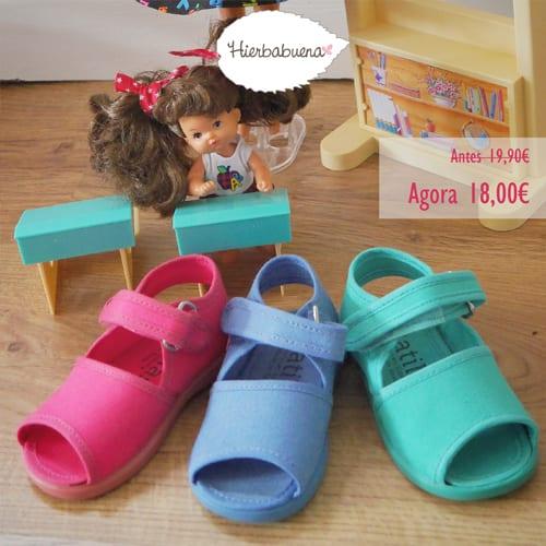 Hierbabuena sandalia happy sunny colores frente saldos - Blog